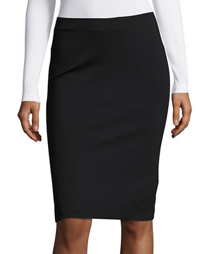 Armani Collezioni Milano Jersey Pencil Sheath Skirt-BLACK-EUR 46/US 10