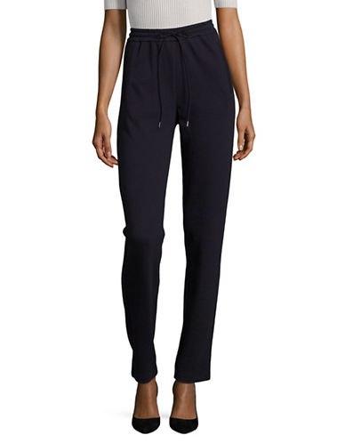Armani Collezioni Cashmere-Blend Drawstring Sweatpants-MIDNIGHT BLUE-EUR 42/US 6