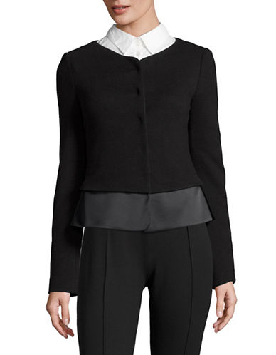 Armani Collezioni Textured Jacket-BLACK-EUR 48/US 12
