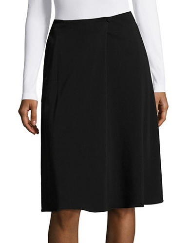 Armani Collezioni Single Button A-Line Skirt-BLACK-EUR 42/US 6
