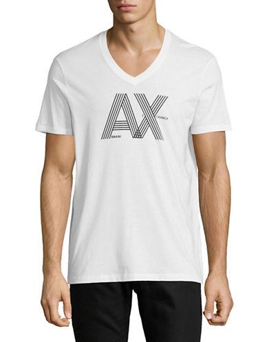 Armani Exchange Classic Logo T-Shirt-WHITE-Small