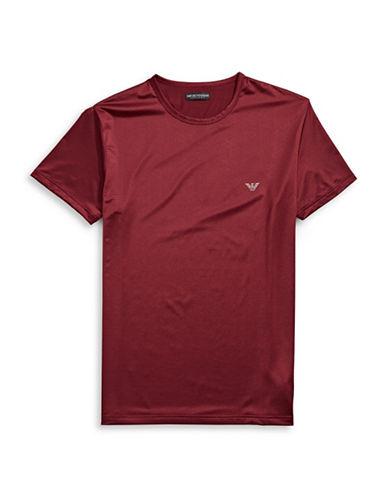 Emporio Armani Underwear Metallic Iridescent Tee-RED-Medium
