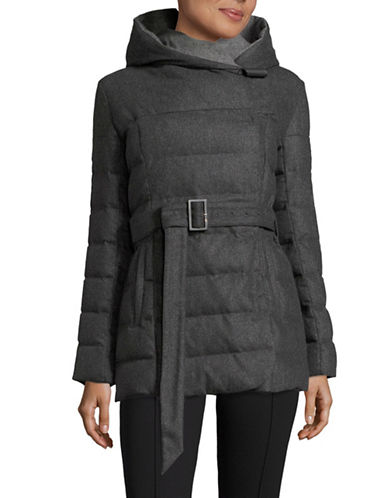 Armani Collezioni Hooded Wool-Cashmere Down Jacket-GREY-EUR 42/US 6