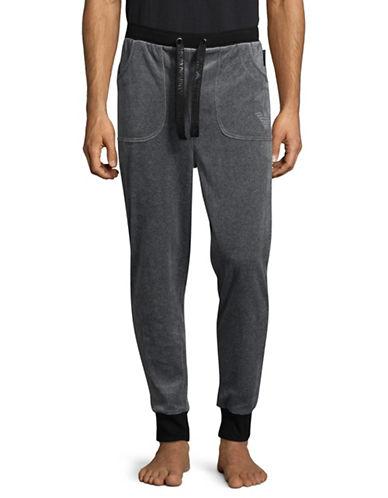 Emporio Armani Underwear Velour Lounge Jogger Pants-GREY-X-Large 89619871_GREY_X-Large