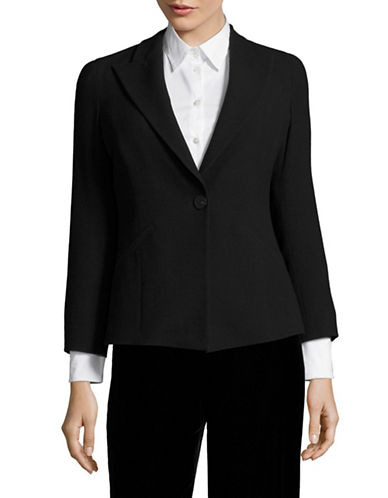 Armani Collezioni Stretch-Wool Blazer-BLACK-EUR 42/US 6