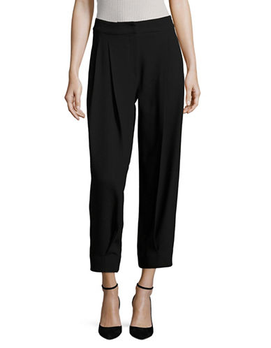 Armani Collezioni Stretch Wool Pants-BLACK-EUR 40/US 4