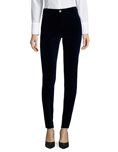 Armani Collezioni Velvet Skinny-Fit Jeans-BLUE-29