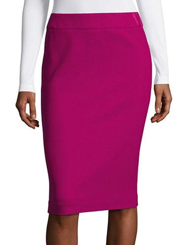 Armani Collezioni Waffle Wool-Blend Skirt-FUCHSIA-EUR 50/US 14