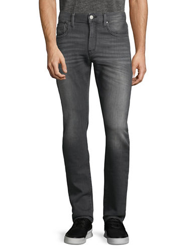 Armani Exchange Classic  High-Waist Jeans-GREY-32