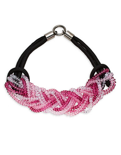 Armani Collezioni Braided Multi-Strand Necklace-FUCHSIA-One Size