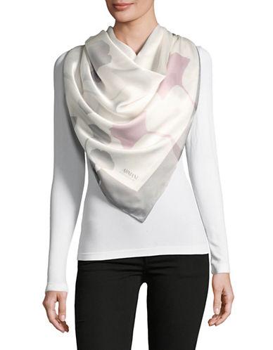Armani Collezioni Floral Woven Silk Scarf-GREY-One Size