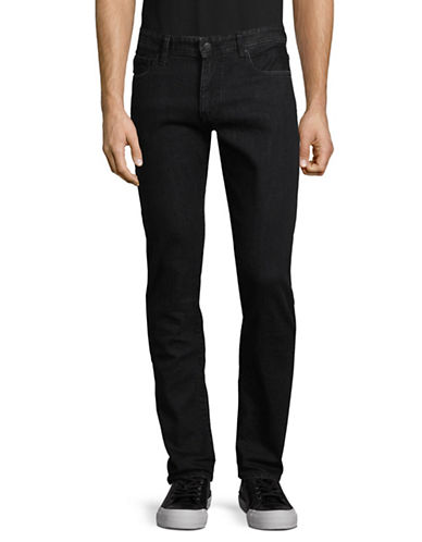 Armani Exchange Textured Slim Fit Jeans-BLACK-30