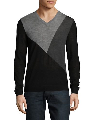 Armani Exchange Ax Wool Pullover-BLACK-X-Large