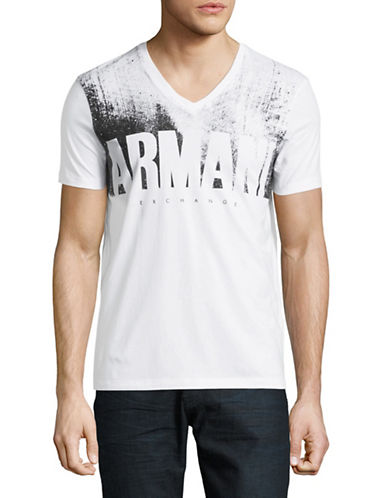 Armani Exchange AX Logo Cotton T-Shirt-WHITE-X-Large 89630992_WHITE_X-Large