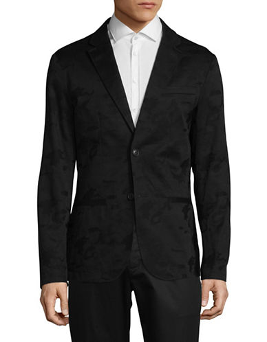 Armani Exchange Camo Jacquard Sports Jacket-BLACK-40