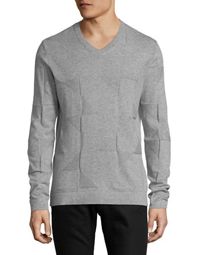 Armani Exchange Jacquard Knit Shirt-GREY-Medium