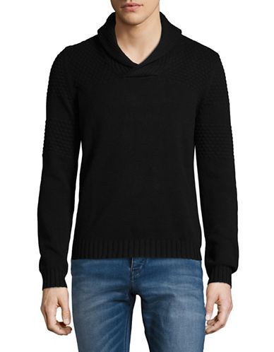 Armani Exchange Ax Wool Pullover-BLACK-Small