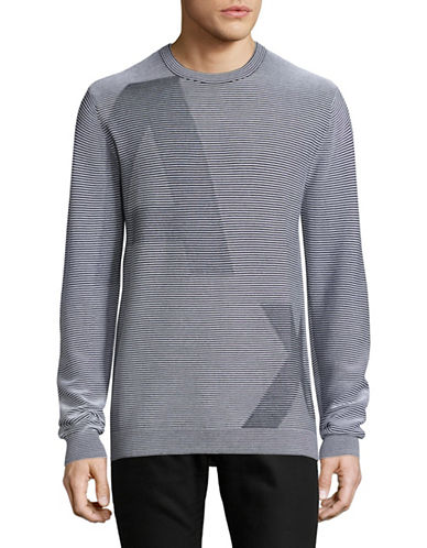 Armani Exchange AX Logo Long Sleeve T-Shirt-GREY-Small