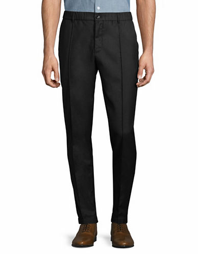 Armani Exchange Woven Skinny Pants-BLACK-30
