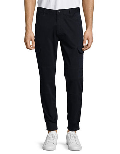 Armani Exchange Casual Stretch-Fit Tapered Pant-NAVY-36