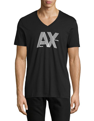 Armani Exchange Classic Logo T-Shirt-BLACK-Medium