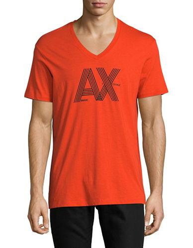 Armani Exchange Classic Logo T-Shirt-RED-Medium
