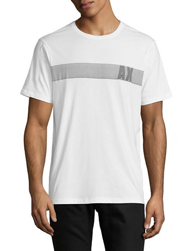 Armani Exchange AX Bar Graphic T-Shirt-WHITE-X-Large 89502409_WHITE_X-Large