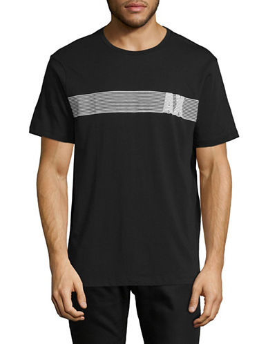 Armani Exchange AX Bar Graphic T-Shirt-BLACK-Small