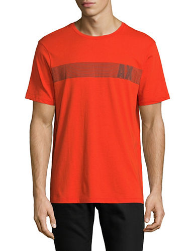 Armani Exchange AX Bar Graphic T-Shirt-RED-Large