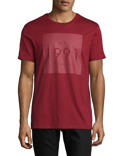 Armani Exchange Logo T-Shirt-RED-X-Large