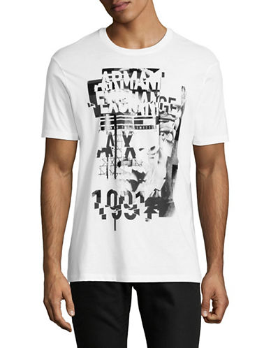 Armani Exchange Classic Logo T-Shirt-WHITE-Large 89502445_WHITE_Large