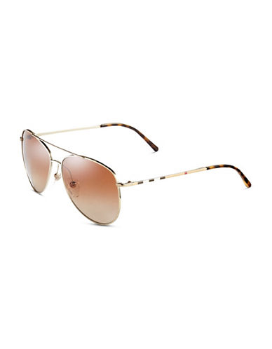 Burberry 57mm Signature Check Sunglasses-BURBERRY GOLD-One Size