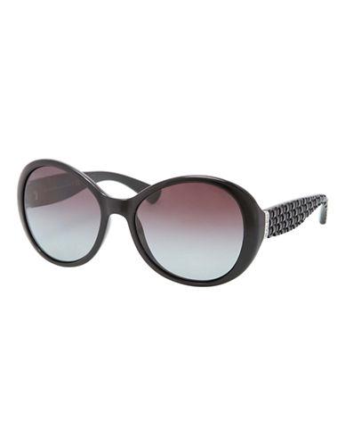Ralph By Ralph Lauren Eyewear Round Shape Sunglass-BLACK (POLARIZED)-One Size