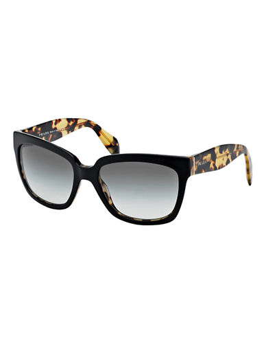 Prada Classic Square Sunglasses-TOP BLACK/MEDIUM HAVANA-One Size