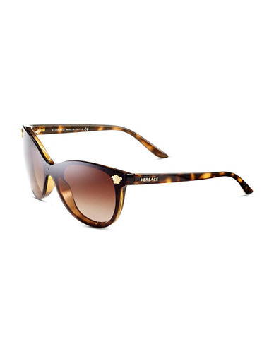 Versace 41mm Medusa Full Lens Sunglasses-HAVANA-One Size