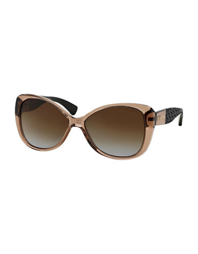 Ralph By Ralph Lauren Eyewear RA5180 58mm Butterfly Sunglasses-BROWN-58 mm