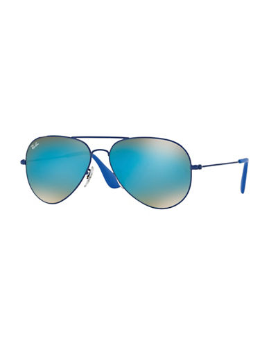 Ray-Ban Polarized 58mm Aviators-BLUE-58 mm