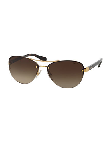 Ralph By Ralph Lauren Eyewear 56mm Aviator Sunglasses-BLACK-One Size