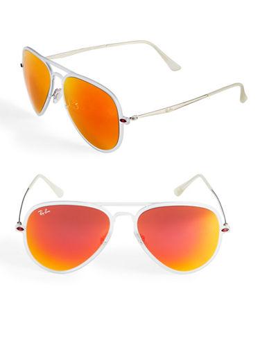 Ray-Ban Combo 56 mm Wayfarer Sunglasses-ORANGE-55 mm