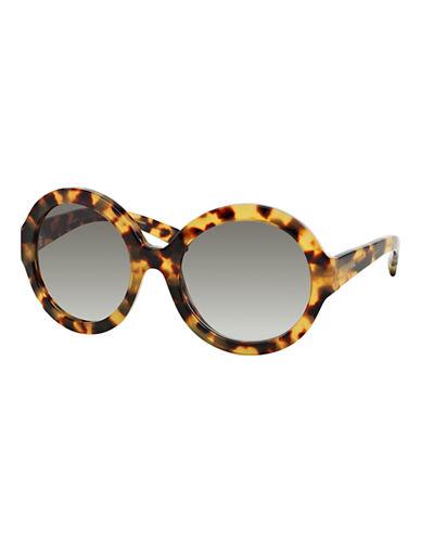 Prada 56mm Round Sunglasses-MEDIUM HAVANA-One Size