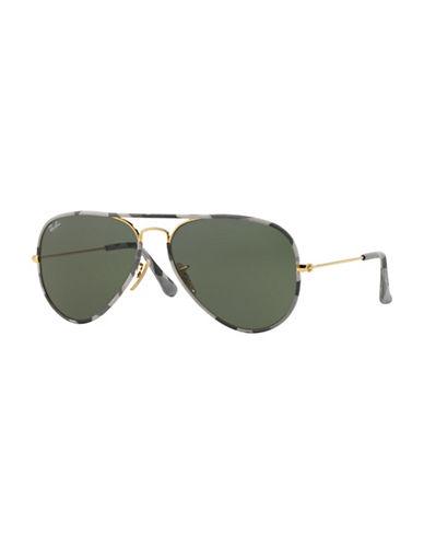 Ray-Ban Camo 55mm Aviator Sunglasses-GREY CAMO-55 mm