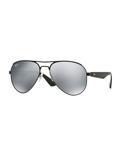 Ray-Ban 59mm Aviator Sunglasses-GREY-59 mm