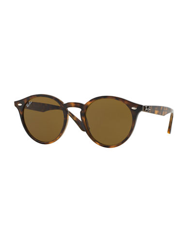 Ray-Ban Full Round Acetate Sunglasses-DARK HAVANA (710/73)-49 mm