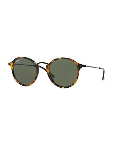 Ray-Ban Round Combo Sunglasses-SPOTTED BLACK HAVANA (1157)-49 mm