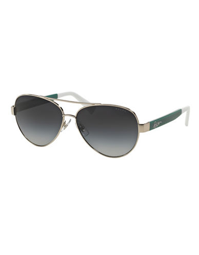 Ralph By Ralph Lauren Eyewear Script Logo 58mm Aviator Sunglasses-GREEN-One Size