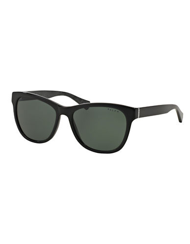 Ralph By Ralph Lauren Eyewear Essential Logo 54mm Square Sunglasses-BLACK-One Size