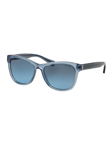 Ralph By Ralph Lauren Eyewear Essential Logo 54mm Square Sunglasses-BLUE-One Size