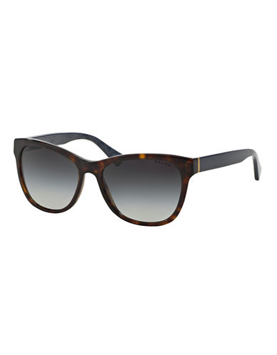 Ralph By Ralph Lauren Eyewear Essential Logo 54mm Square Sunglasses-HAVANA-One Size