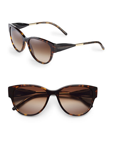 Burberry 56mm Gabardine Cat-Eye Sunglasses-DARK HAVANA-One Size
