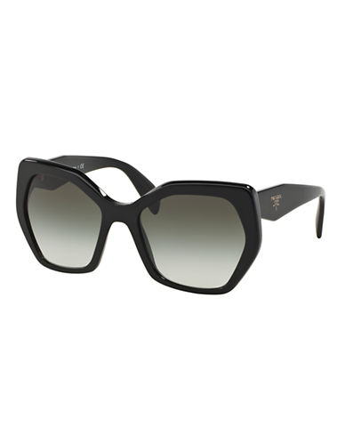Prada Angular 56MM Pentagonal Sunglasses-BLACK-One Size